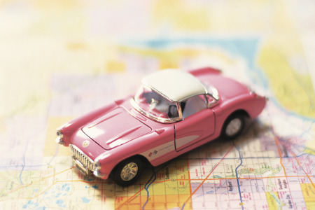 toy car: Toy car on road map