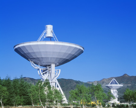 radio telescope: Radio Telescope,Nagano Prefecture,Japan Stock Photo