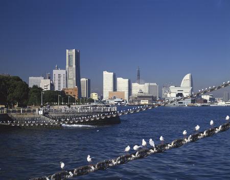 honshu: Yokohama Minatomirai,Kanagawa Prefecture,Honshu,Japan Stock Photo