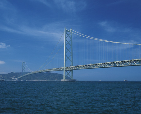 honshu: Akashi Strait Bridge,Hyogo Prefecture,Honshu,Japan Stock Photo