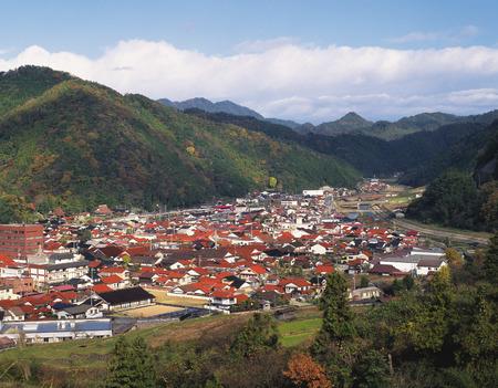 honshu: Townscape of Tsuwano  Town,Shimane Prefecture, Honshu,Japan