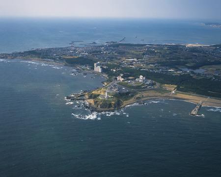 prefecture: Inubosaki cape from sky,Choshi city,Chiba prefecture,Japan