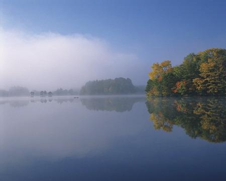 honshu: Lake Sugawara in Autumn,Fukushima Prefecture,Honshu,Japan