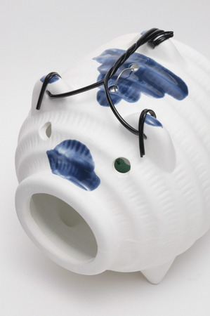 Mosquito coil holder in pig ceramics photo