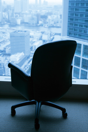 Chair beside window photo