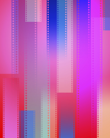 arts culture and entertainment: Digitally generated image depicting movie film