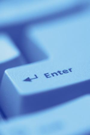 toned image: Enter key,close up,toned image Stock Photo