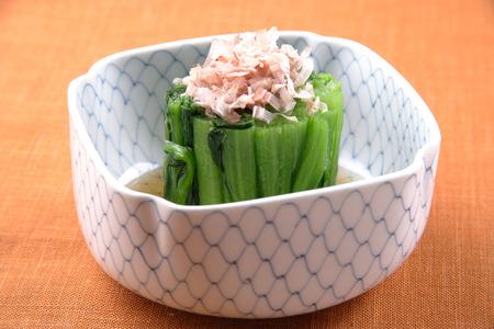 brassica: Boiled Brassica campestris Stock Photo