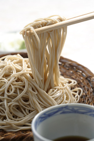 chilled: Chilled soba noodles Stock Photo