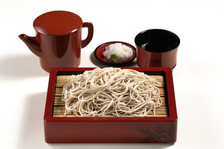 soba noodles: Chilled soba noodles Stock Photo