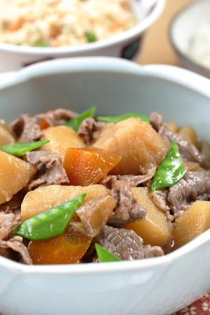 stewed: Potatoes stewed with pork