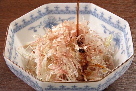shreded: Shreded Japanese ginger with soy sauce
