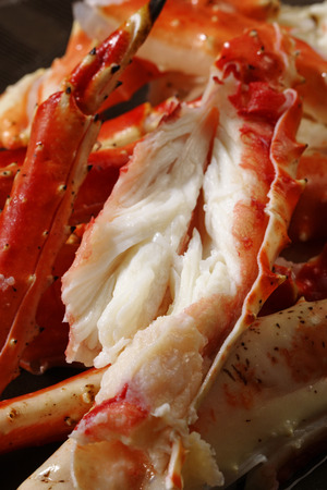 crab meat: Close-up of paralithodes camtschaticus Stock Photo
