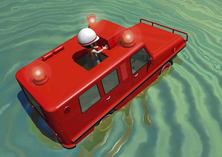 amphibious: Amphibious firefighting vehicle
