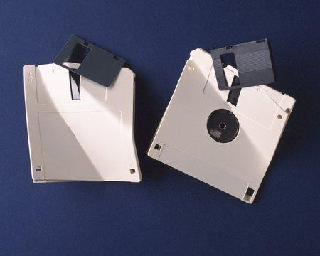 floppy disk: Broken Floppy Disk
