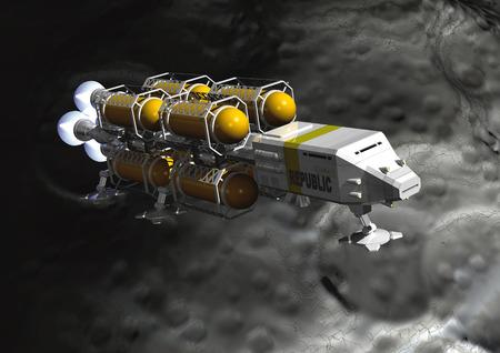 exploration: CG image of planet exploration ship