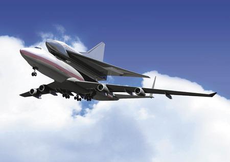 jumbo: CG image of the jumbo jet and space shuttle