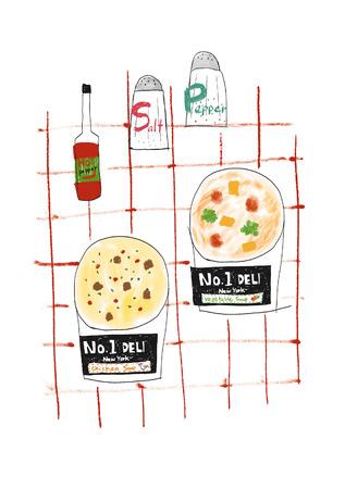 eating habits: Deli cafe