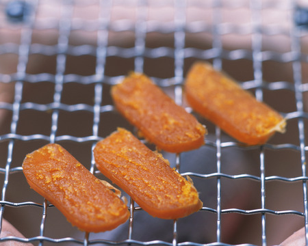 mullet: Dried Mullet Roe Stock Photo