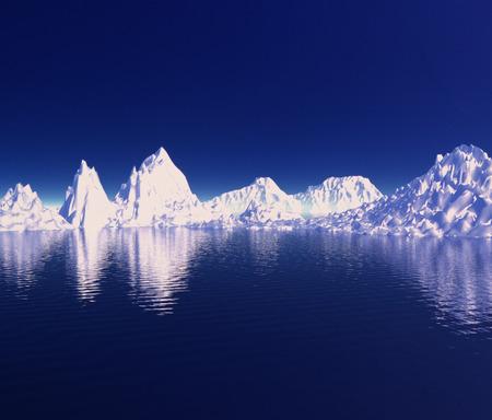 drift: Drift ice, CG Stock Photo