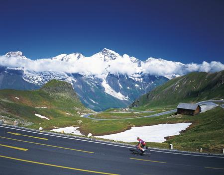 grossglockner: Grossglockner mountain and a highway