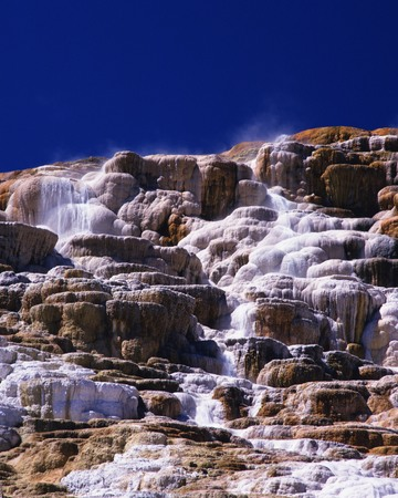 Mammoth hot springs photo