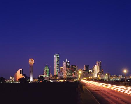 Night view of Dallas Stock Photo