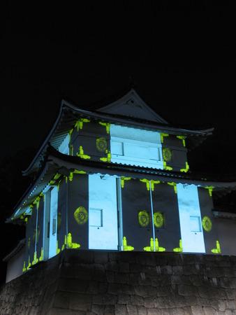 nijo: Nijo Castle lit up