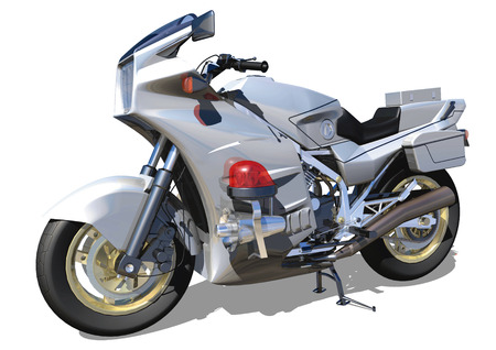 a white police motorcycle: Police motorcycle