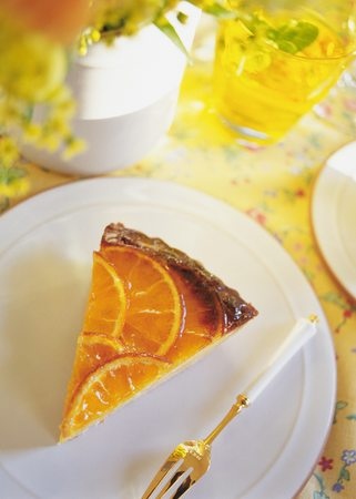 orange tart: Orange Tart Stock Photo