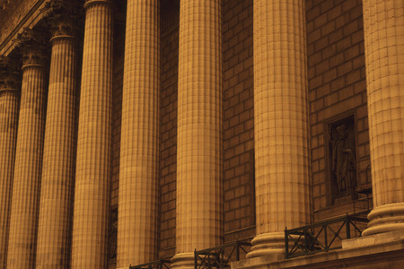 madeleine: Pillars of the Madeleine Church Stock Photo