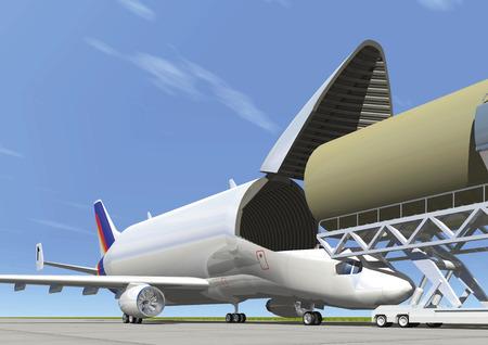 transporter: Transporter Beluga Stock Photo