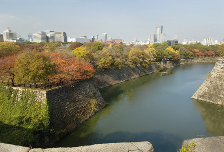 osaka castle: The moat of Osaka Castle