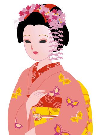 apprentice: Apprentice geisha Stock Photo