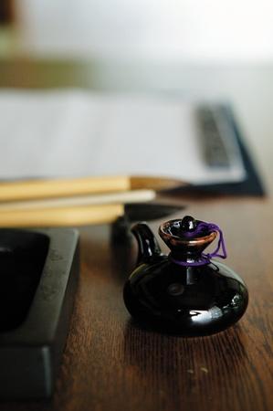 inkstone: Image of Calligraphy Tools Stock Photo