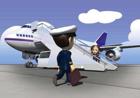 man rear view: Jumbo jet