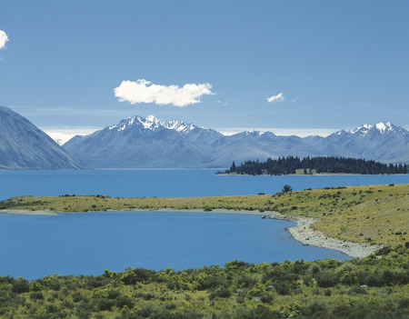 tekapo: Lake Tekapo and the Southern Alps