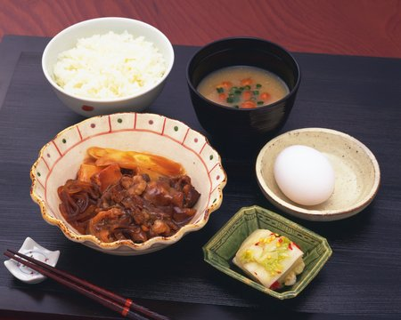 Sukiyaki meal photo