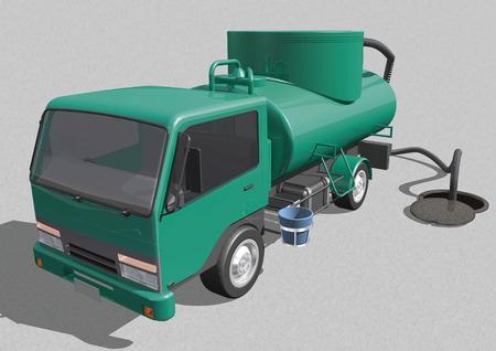 cesspool: Vacuum truck