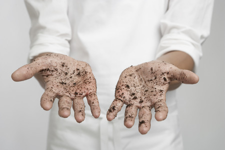 dirty: Person with dirty hands