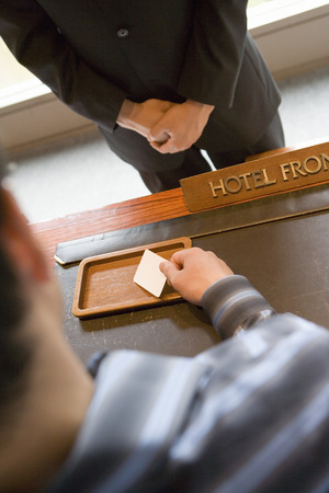front desk: Hotel front desk