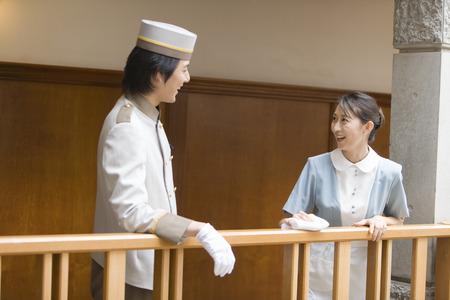 hotel staff: Hotel staff talking