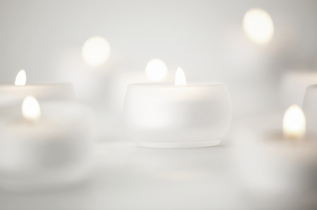 tealight: Blurry tealight candles