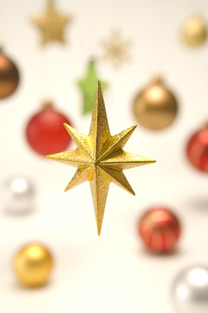 star ornament: Close up of Christmas star ornament Stock Photo