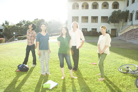 bri: Students relaxing outdoors
