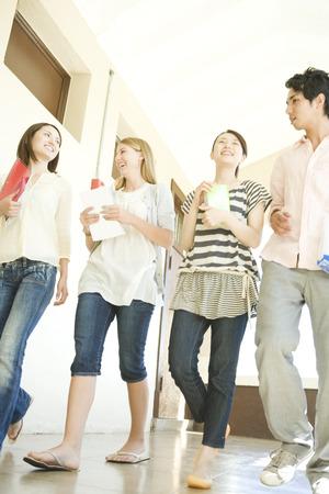 corridors: Students walking in corridors