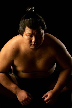 20 29 years: Sumo Wrestler Staring Stock Photo