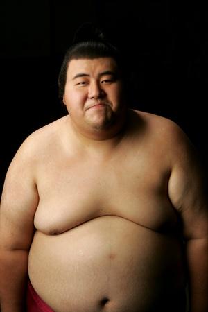 sumo: Smiling Sumo Wrestler