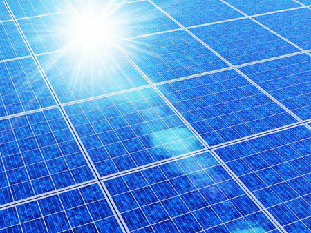 synthesis: Solar panels Stock Photo