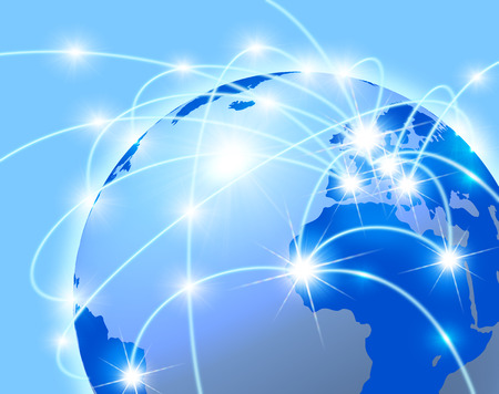synthesis: Global network concept Stock Photo